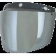 Viziera AFX casca FX-76  3 capse argintiu