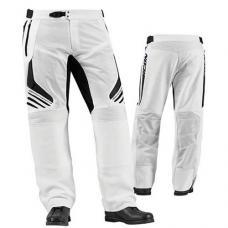 Pantaloni piele+textil Icon Compoundmsh culoare alb marime 36