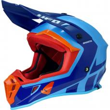 Casca motocross Ufo Quiver , culoare albastru/portocaliu , marime L