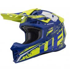 Casca motocross Ufo Intrepid , culoare albastru/galben , marime XL