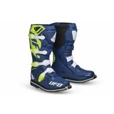 Cizme Motocross Ufo Plast OBSIDIAN, culoare Albastru/Verde/Alb, marime 45