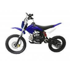 "Motocicleta Cross Copii KXD 125cc DB 607M 4T Roti 14""/12"" Culoare Albastru/Alb"