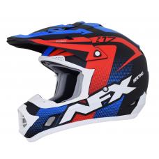 Casca Cross/ATV AFX FX-17  Holeshot  culoare negru mat rosu alb albastru marime S